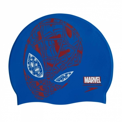 SPEEDO KIDS BOYS DISNEY SPIDERMAN JUNIOR SLOGAN SWIMMING CAP 08386-C842