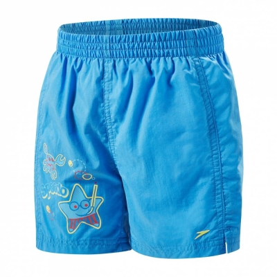 SPEEDO KIDS BOY SWIMMING SEA SQUAD WATERSHORT BLUE 08815-B418
