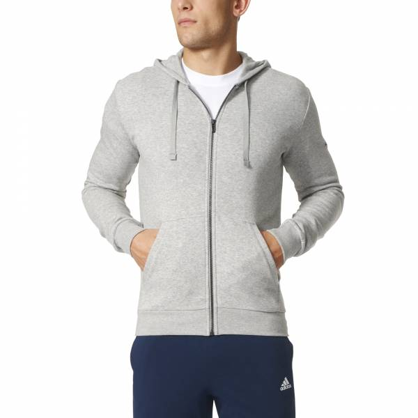 ADIDAS MEN CLOTHING ESSENTIALS BASE FLEECE ZIP HOODIE BK3716