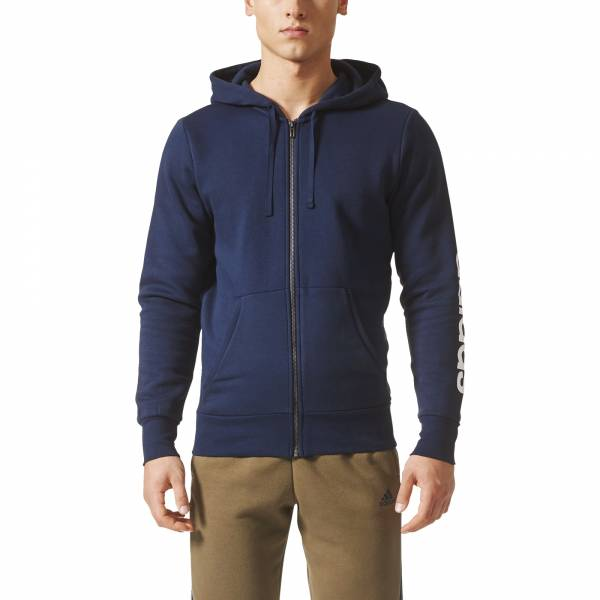 ADIDAS MEN CLOTHING ESSENTIALS LINEAR FLEECE ZIP HOODIE BQ9639