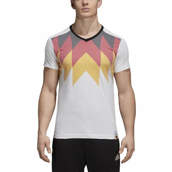 ADIDAS MEN FOOTBALL WORLD CUP 3-STRIPES GERMANY TEE CF1734