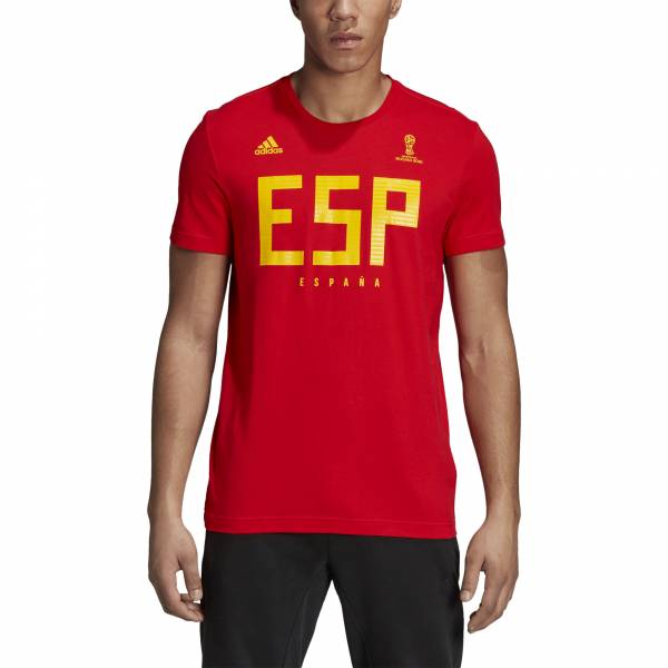 ADIDAS MEN FOOTBALL FIFA WORLD CUP 2018 SPAIN TEE CW1984