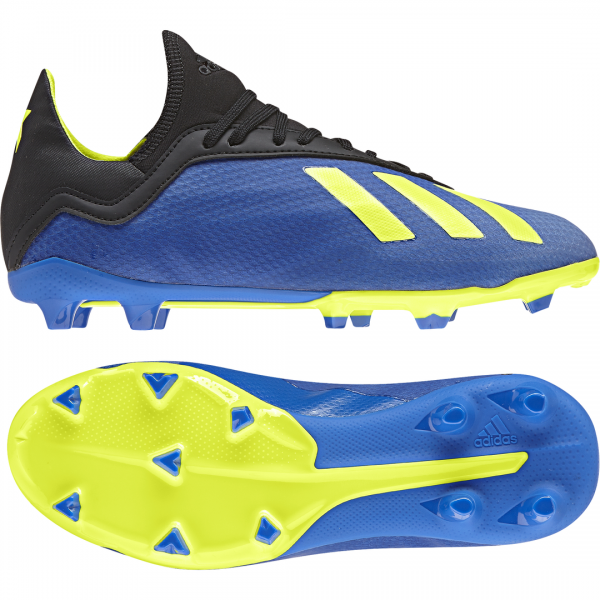 ADIDAS KIDS FOOTBALL X 18.3 FIRM GROUND BOOTS DB2416
