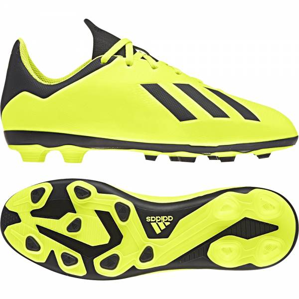 ADIDAS KIDS FOOTBALL X 18.4 FIRM GROUND SHOES DB2420