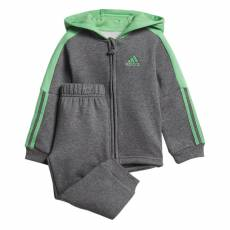 ADIDAS INFANTS GIRLS LOGO FULL ZIP HOODED JOOGER SET DJ1587