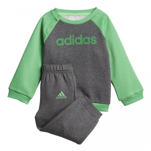 ADIDAS INFANTS BOYS LINEAR FLEECE JOGGER SET DJ1570
