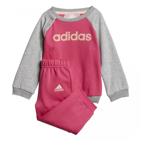 ADIDAS INFANTS GIRLS LINEAR FLEECE JOGGER SET DJ1574