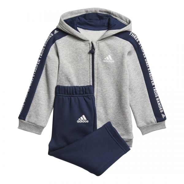 ADIDAS INFANTS BOYS LINEAR FULL ZIP HOODED JOGGER SET DN8419