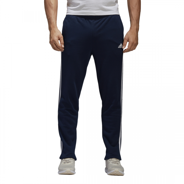 ADIDAS MEN CLOTHING ESSENTIALS 3-STRIPES TAPARED FRENCH TERRY PANTS BK7447