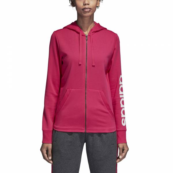 ADIDAS WOMEN CLOTHING ESSENTIALS LINEAR FULL ZIP HOODIE CZ5718