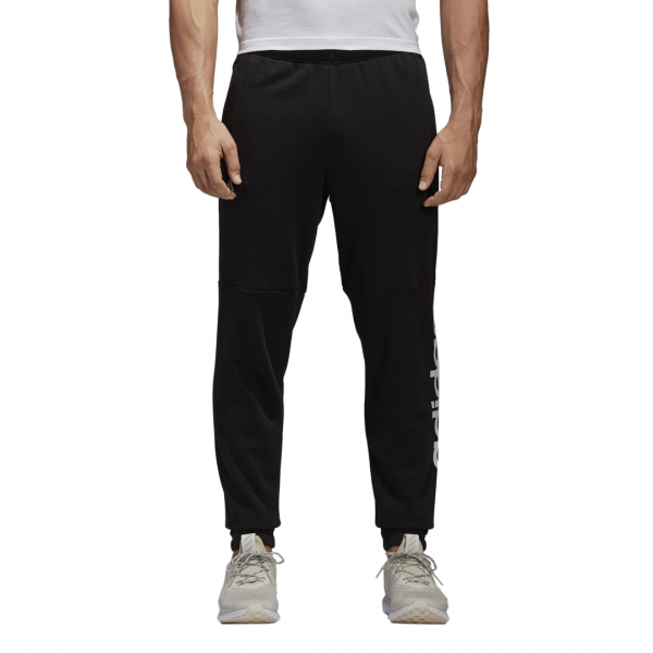 ADIDAS MEN CLOTHING ESSENTIALS LINEAR TAPARED FRENCH TERRY PANTS BQ9090