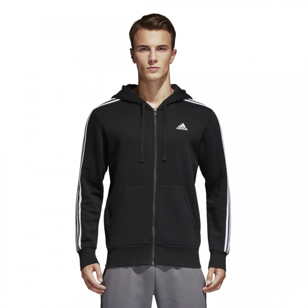 ADIDAS MEN CLOTHING ESSENTIALS 3-STRIPES FLEECE ZIP HOODIE B47368