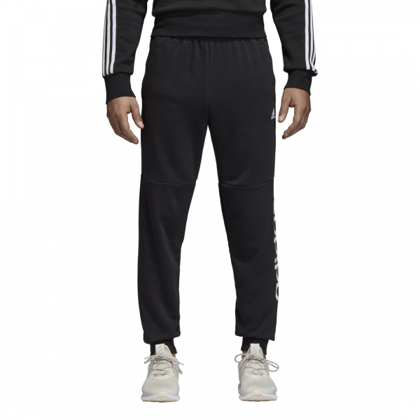 ADIDAS MEN CLOTHING ESSENTIALS LINEAR TAPARED FLEECE PANTS CF1343