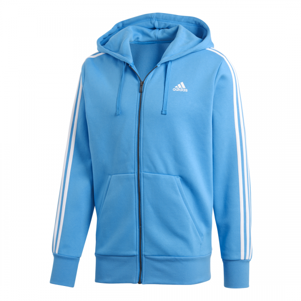 ADIDAS MEN CLOTHING ESSENTIALS 3-STRIPES FULL ZIP HOODIE DN8799