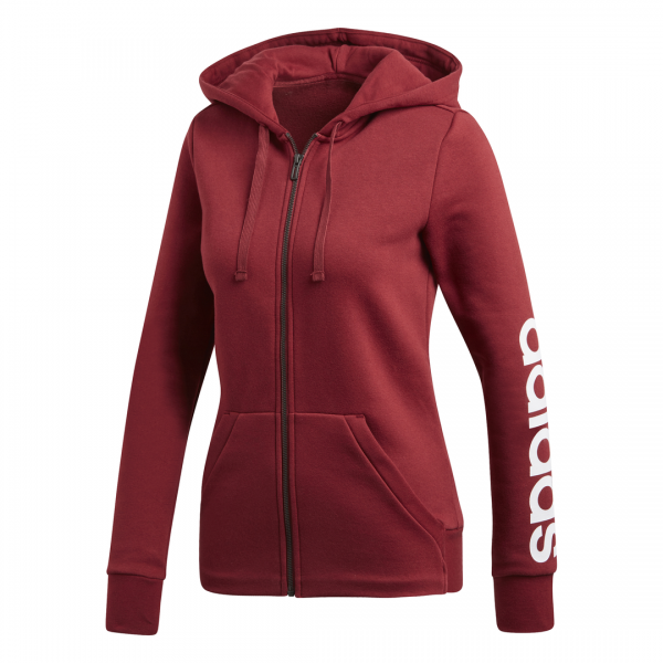 ADIDAS WOMEN CLOTHING ESSENTIALS LINEAR FULL ZIP HOODIE CZ5721