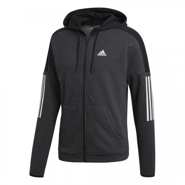 ADIDAS MEN CLOTHING SPORT ID LOGO FULL ZIP FT HOODIE DM2804