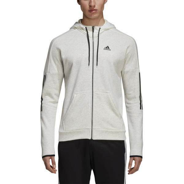 ADIDAS MEN CLOTHING SPORT ID FT ZIP HOODIE DM4055