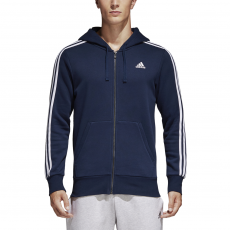 ADIDAS MEN CLOTHING ESSENTIALS 3-STRIPES FULL ZIP HOODIE S98791