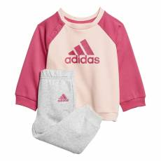 ADIDAS INFANTS GIRLS LOGO FLEECE JOGGER SET DJ1576