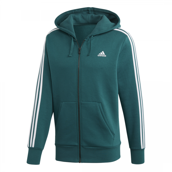ADIDAS MEN CLOTHING ESSENTIALS 3-STRIPES FULL ZIP HOODIE DN8800