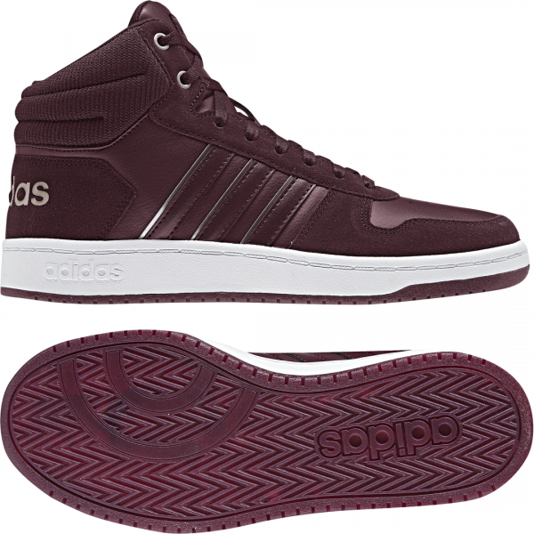 ADIDAS WOMEN HOOPS MID 2.0 SHOES B42108