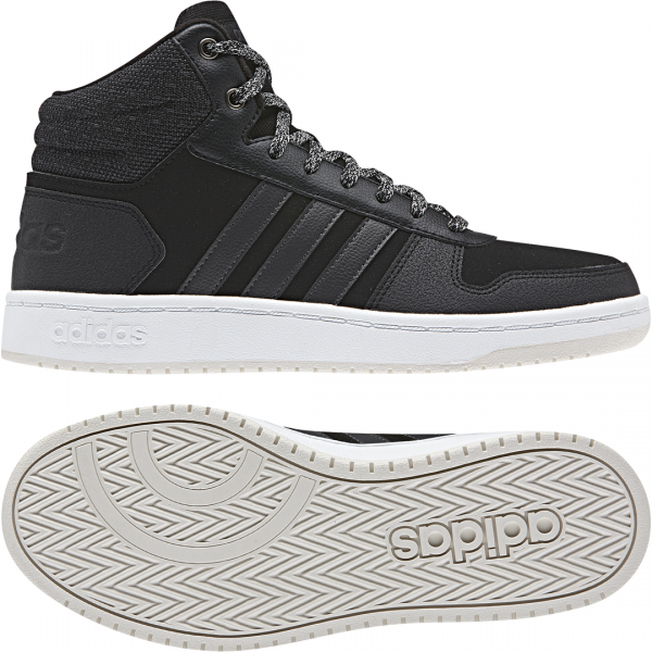 ADIDAS WOMEN HOOPS MID 2.0 SHOES B42110
