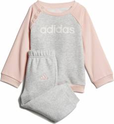ADIDAS INFANTS GIRLS LINEAR FLEECE JOGGER SET DJ1575