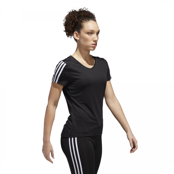 ADIDAS WOMEN CLOTHING RUNNING 3 STRIPES TEE CZ7569