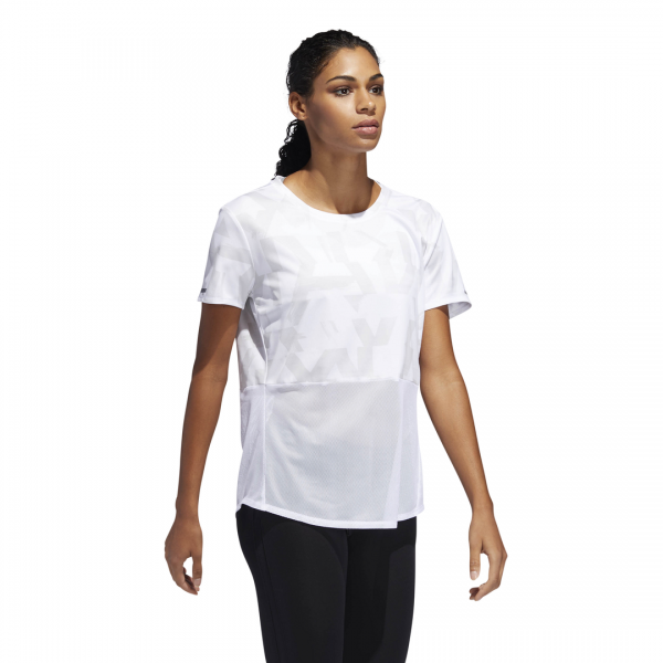 ADIDAS WOMEN CLOTHING RUNNING OWN THE RUN SPEED SPLITS TEE DQ2549