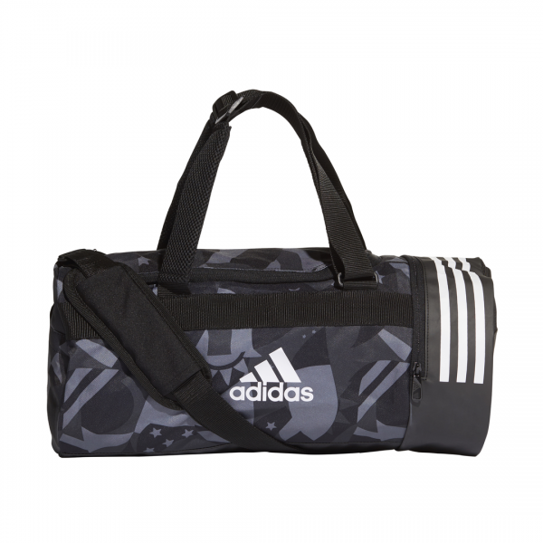 ADIDAS ACCESSORIES 3 STRIPES CONVERTIBLE GRAPHIC DUFFEL BAG SMALL DT8654