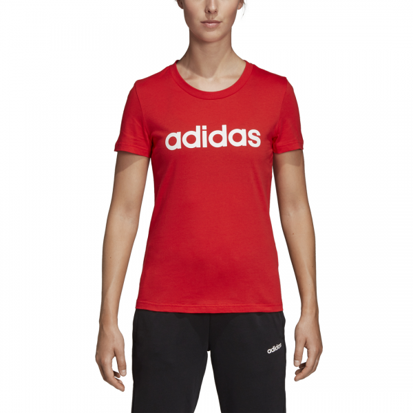 ADIDAS WOMEN CLOTHING ESSENTIALS LINEAR TEE DU0631