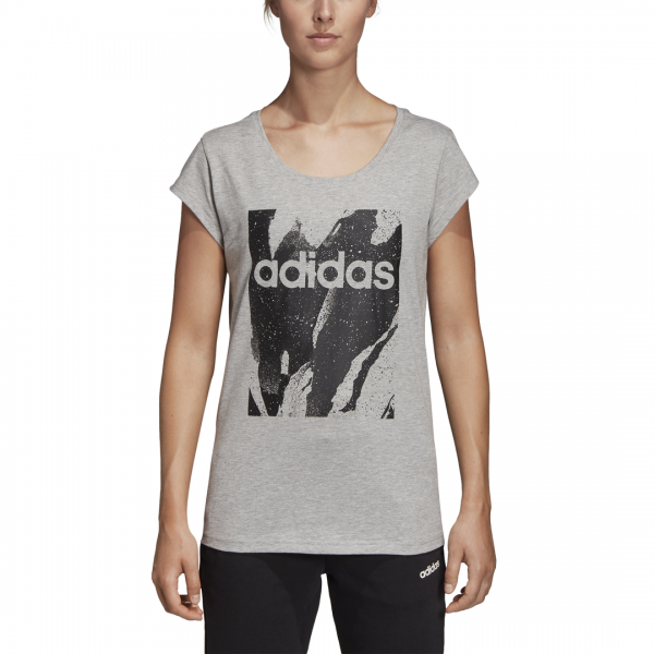ADIDAS WOMEN CLOTHING ESSENTIALS PRINTED TEE DU0636