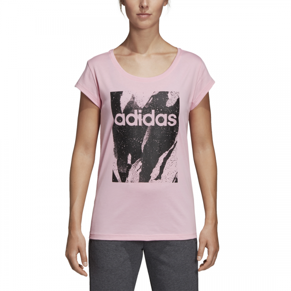 ADIDAS WOMEN CLOTHING ESSENTIALS PRINTED TEE DU0637