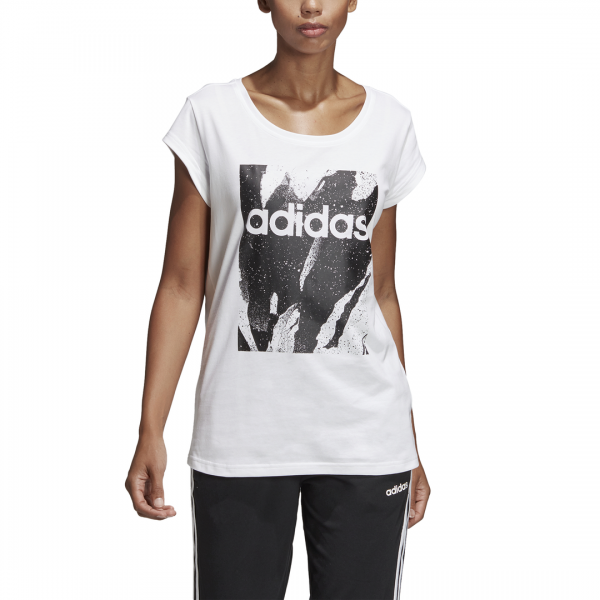 ADIDAS WOMEN CLOTHING ESSENTIALS PRINTED TEE DU0638