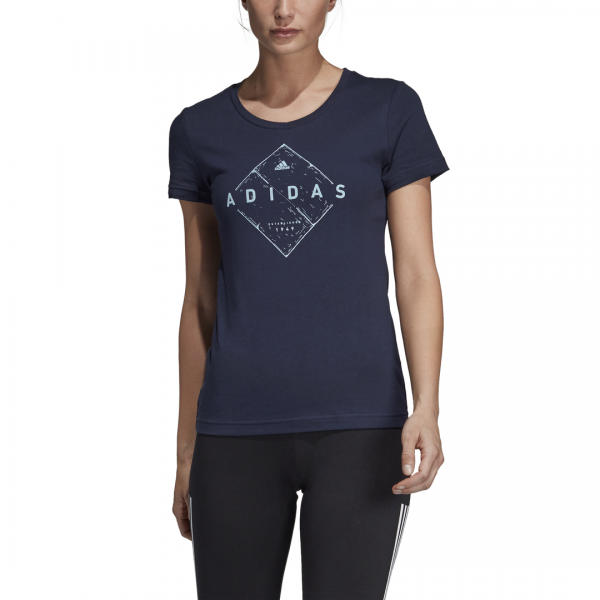 ADIDAS WOMEN CLOTHING EMBLEM TEE DV3009