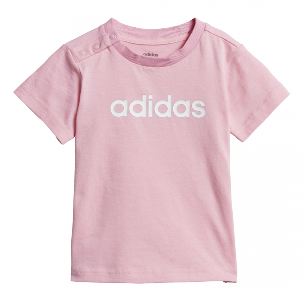 ADIDAS INFANTS GIRLS CLOTHING ESSENTIALS LINEAR TEE DV1273
