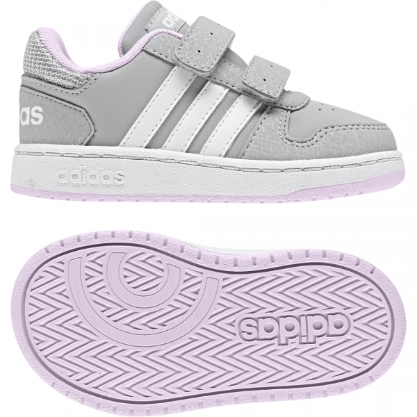 ADIDAS INFANTS GIRLS ESSENTIALS HOOPS 2.0 SHOES F35896
