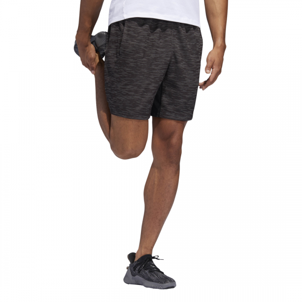 ADIDAS MEN CLOTHING TRAINING 4KRFT STRIPED HEATHER SHORTS DQ2863