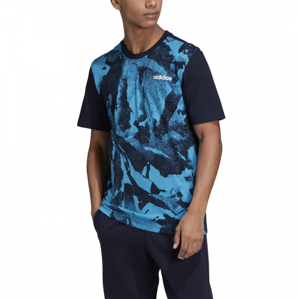 ADIDAS MEN CLOTHING TRAINING ESSENTIALS ALL OVER PRINT TEE DQ3111