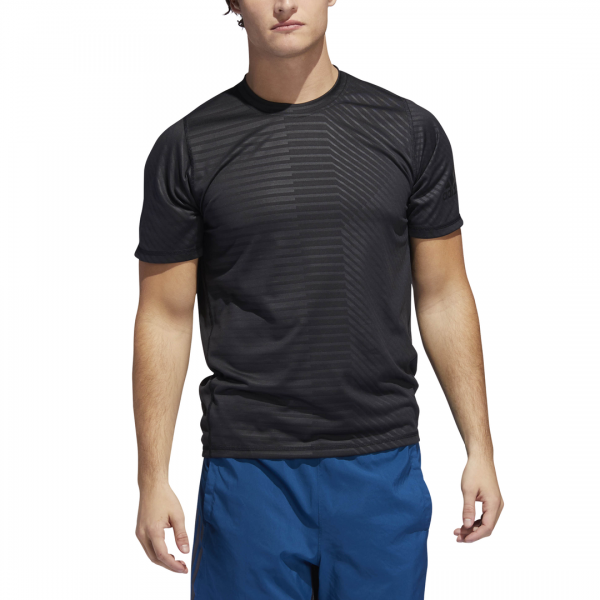 ADIDAS MEN CLOTHING TRAINING FREELIFT SPORT ULTIMATE EMBOSSED TEE DQ2836