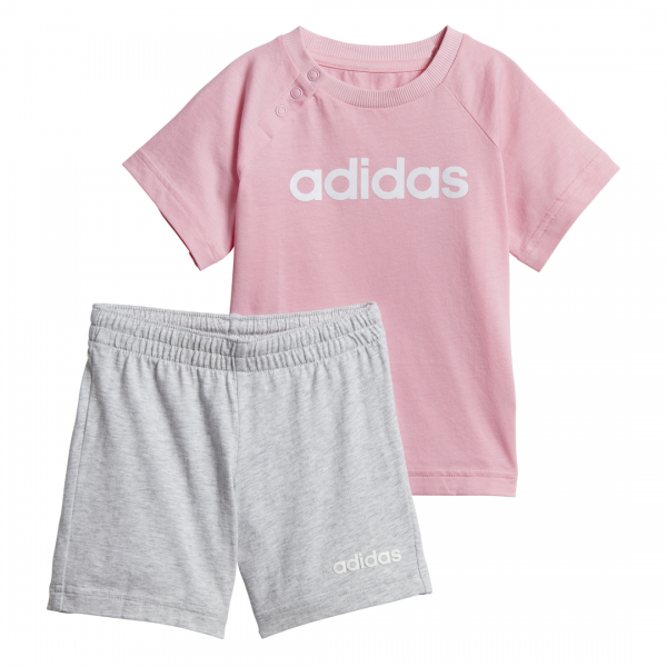 ADIDAS INFANTS GIRLS LINEAR SUMMER SET DV1269