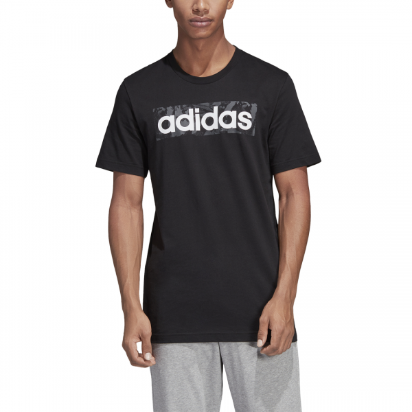 ADIDAS MEN CLOTHING LINEAR ALL OVER PRINT BOX TEE DV3041