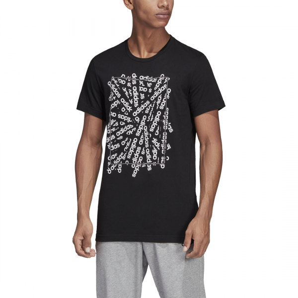 ADIDAS MEN CLOTHING LINEAR SCATTER TEE DV3042