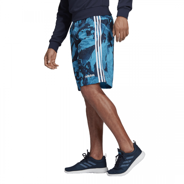 ADIDDAS MEN CLOTHING ESSENTIALS ALL OVER PRINT SHORTS DW7364