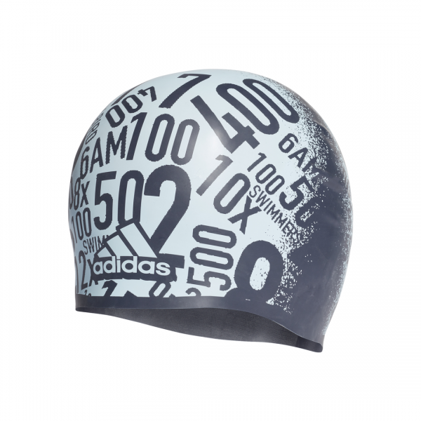 ADIDAS ACCESSORIES SWIMMING ALLOVER PRINT SILICONE SWIM CAP DQ1734