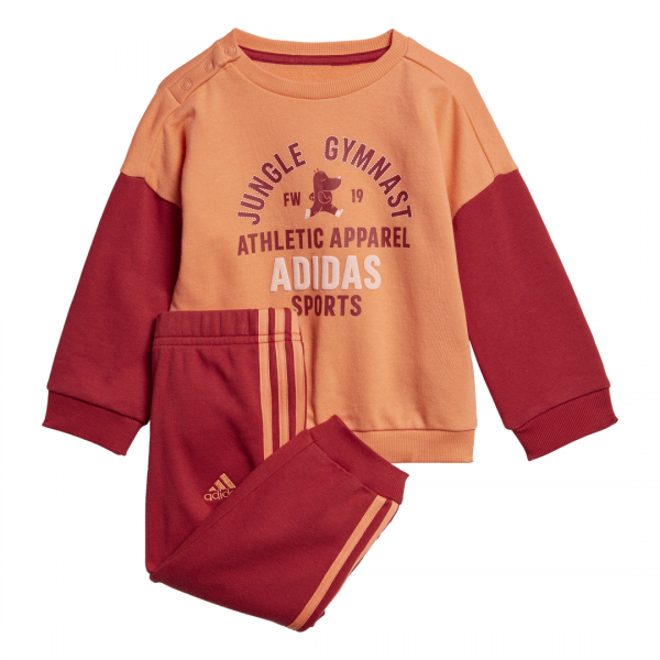 ADIDAS INFANTS GIRLS CLOTHING GRAPHIC TERRY JOGGER SET ED1173