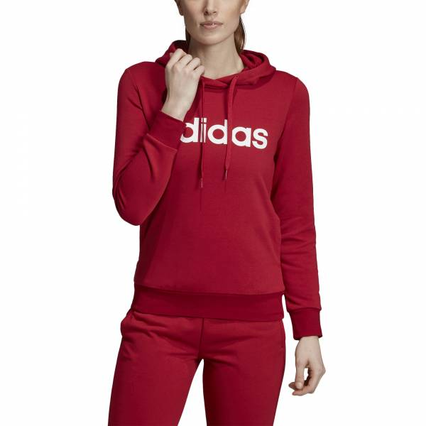 ADIDAS WOMEN CLOTHING ESSENTIALS LINEAR PULLOVER HOODIE EI0653