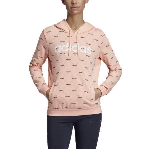 ADIDAS WOMEN CLOTHING LINEAR GRAPHIC HOODIE EI6246