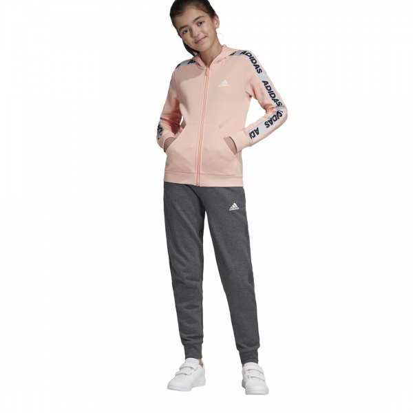 ADIDAS KIDS GIRLS CLOTHING HOODED COTTON TRACKSUIT ED4636