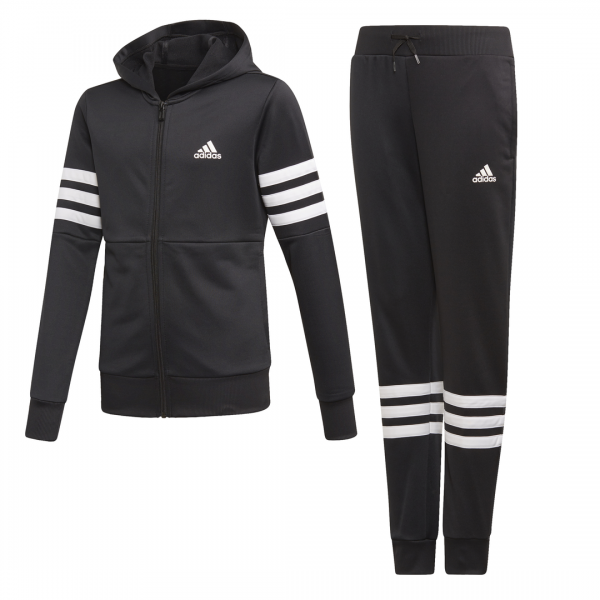 ADIDAS KIDS GIRLS CLOTHING HOODED PES TRACKSUIT ED4638